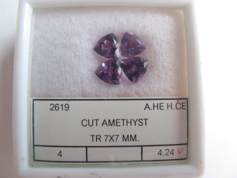 TR Cut Amethysts (set of 4)