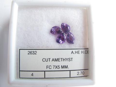 Fancy Cut Amethyst (set of 4)