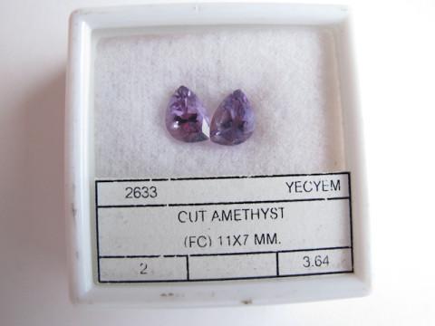 Pair of Amethysts