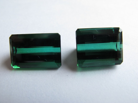 Cut Green Toumaline (set of 2)