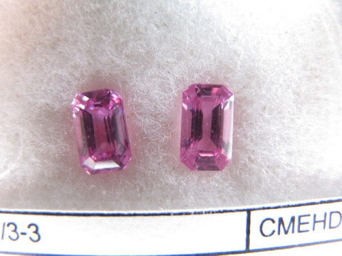 Pair of Pink Sapphires (7.5 x 4.6 Octagon)