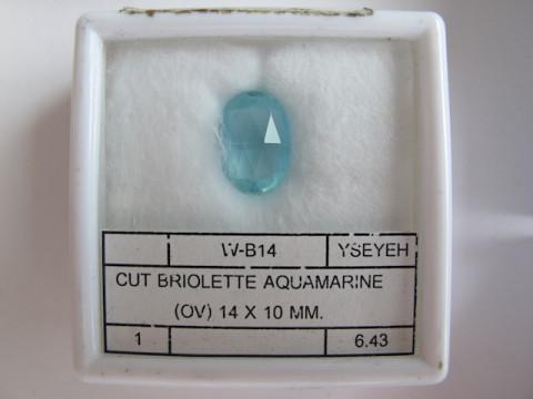 Briolette Aquamarine (14 x 10)