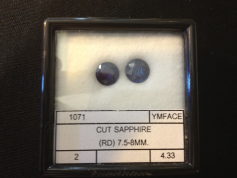 Pair of Blue Sapphires (7.5 mm Round)