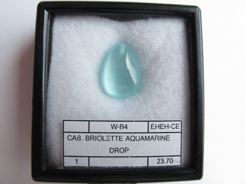 Cabochon Aquamarine (Drop)