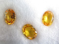 Yellow Sapphires (7 x 5 - 5.5 set of 3)