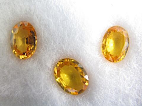 Yellow Sapphires (7 x 5 - 5.5 set of 3)