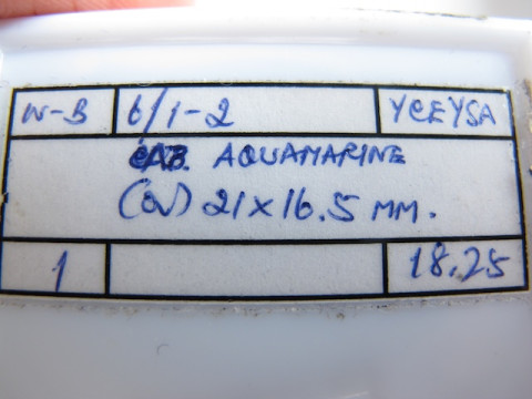 Cabochon Aquamarine (21 x 16.5)