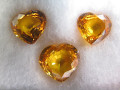Yellow Sapphires (7.5 - 8.5 Heart set of 3)