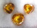 Yellow Sapphires (7.5 - 8.5 Heart set of 3)
