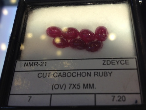 Cabochon Rubies (7 x 5 calibrated size)
